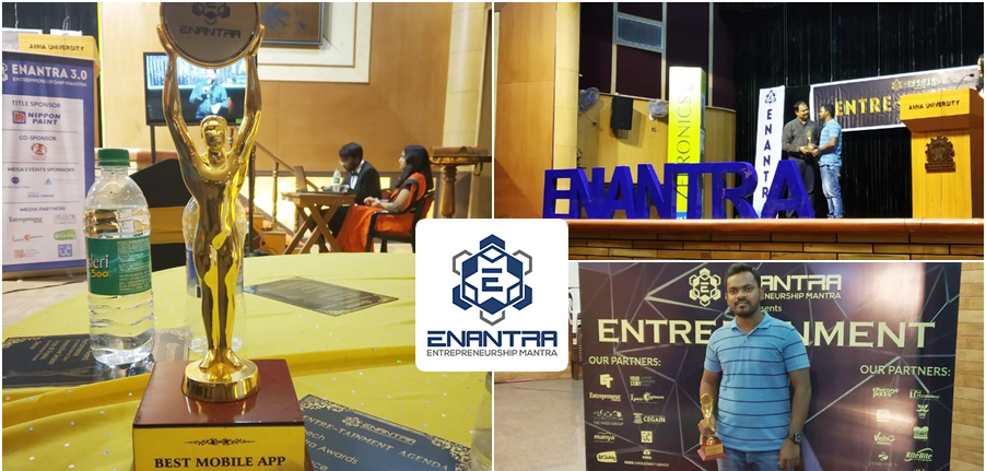 Smarther Wins Best Mobile App Company By ENANTRA 2019