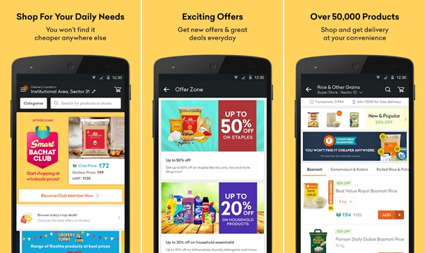 Grofers Grocery Shopping App