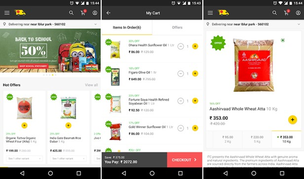 Zopnow Grocery Shopping App