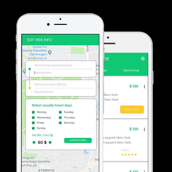 Carpooling App Development Company Ride Sharing App Development